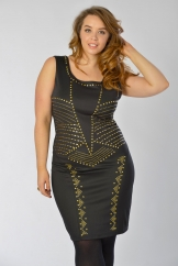 Black Gold Stud Dress