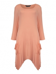 Asymmetric Top In Peach