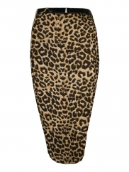 Animal Print Belted Pencil Skit